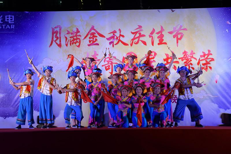 舞姿妙曼,韵味十足;研发中心的民族舞《壮乡欢歌》,动作编排有创意,赋图片